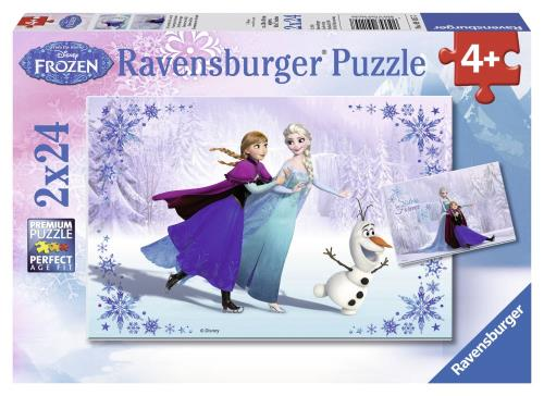 Puzzles 2 x 24 pièces Ravensburger Sœurs pour toujours Disney Frozen La Reine des Neiges