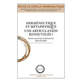 Herméneutique et métaphysique. Une articulation renouvelée Book Cover