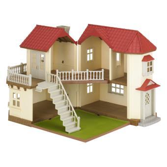 Grande Maison Tradition Eclairee Sylvanian Families Univers Miniature Achat Prix Fnac