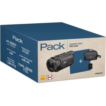 Fnac Pack Sony FDR-AX53 Camcorder 4K Zwart + Tas + 16GB SD-Kaart