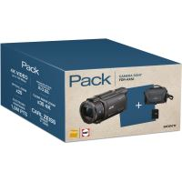 Pack Fnac Caméscope Sony FDR-AX53 Noir 4K Ultra HD WiFi et NFC+ Fourre-tout + Carte mémoire SD 16 Go