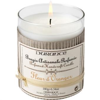 Bougie Artisanale Parfumee Durance 180gr Fleur D Oranger Achat