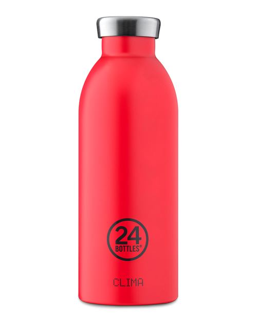 24 BOTTLES BOUTEILLE ISOTHERME CLIMA 0,5 L HOT RED