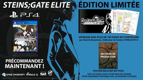 Steins Gate Elite Edition Limitée PS4