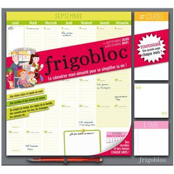 Calendrier Frigobloc 2021 Frigobloc 2021 Mensuel   Calendrier d'organisation familiale par