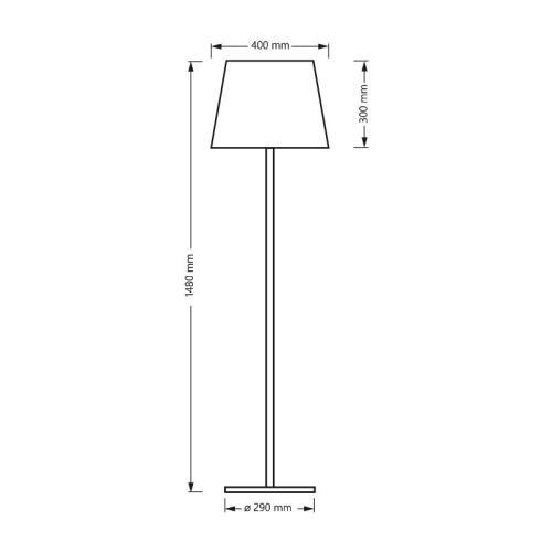 Cm Aluminium Polyéthylène Lumens Couleur Changeante Lampadaire 2600 Et H 150 Lumineux Secteur Sur Extérieur H2Y9IWED