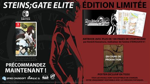 Steins Gate Elite Edition Limitée Nintendo Switch