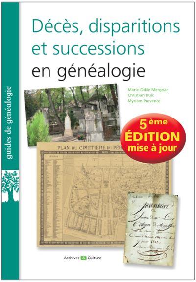 Deces disparitions et successions en genealogie