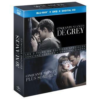 Fifty shadesCoffret Cinquante nuances de Grey, Cinquante nuances plus sombres Blu-ray