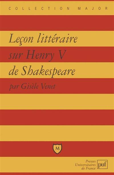 Leçon littéraire sur « Henry V » de Shakespeare