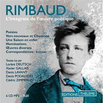 L'intégrale de l'oeuvre poétique - Texte lu (CD) - Arthur