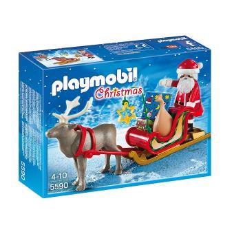 Traineau Pere Noel Playmobil Playmobil Christmas 5590 Père Noël avec traîneau   Playmobil