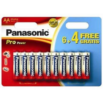 Pack de 6+4 piles Panasonic Pro Power AA-LR6