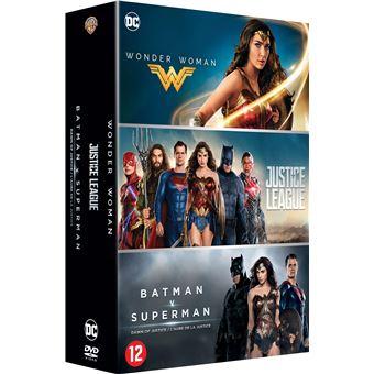 DC animatedCoffret DC Comics 3 films DVD
