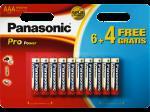 Pack de 6+4 piles Panasonic Pro Power AAA-LR03