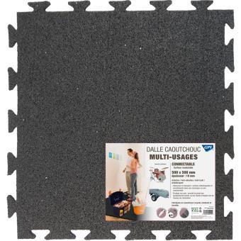 5 sur dalle multi usage en caoutchouc connectable 3m ep 10 mm 50 x 50 cm noir colle produit. Black Bedroom Furniture Sets. Home Design Ideas