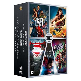 DC animatedCoffret DC Comics 5 films DVD