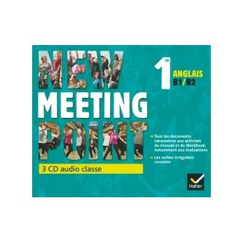 New Meeting Point Anglais 1re éd. 2015 - 3 CD audio classe