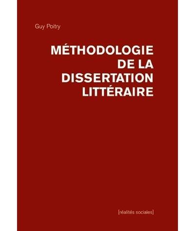 plan de la dissertation litteraire