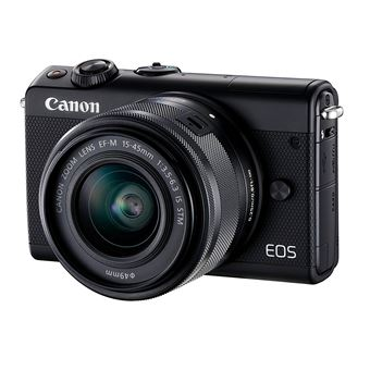 Canon EOS M100 - Digitale camera - spiegelloos - 24.2 MP - APS-C - 1080p / 60 beelden per seconde - 3x optische zoom EF-M 15-45 mm IS-lens - Wi-Fi, NFC, Bluetooth - zwart