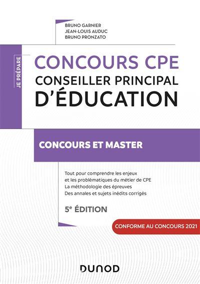 Concours CPE - Conseiller principal d'éducation - 3e éd. - Tout-en-un
