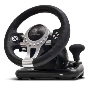 volant spirit of gamer race pro wheel 2 noir pour pc ps3 ps4 et xbox one accessoire console. Black Bedroom Furniture Sets. Home Design Ideas