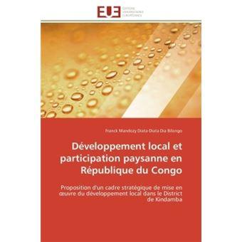 Développement local et participation paysanne en république du congo