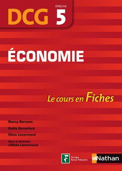 Economie Epreuve 5 DCG Le cours en fiches 2016