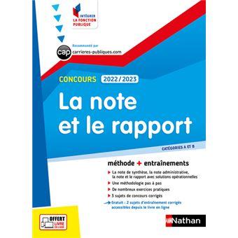La Note Et Le Rapport 2019 2020 Categories A Et B Integrer La