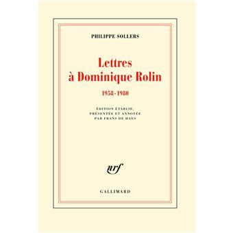 Lettres à Dominique Rolin
