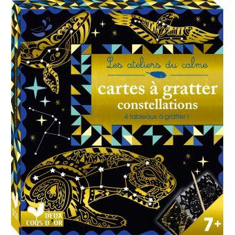 Cartes à gratter constellations