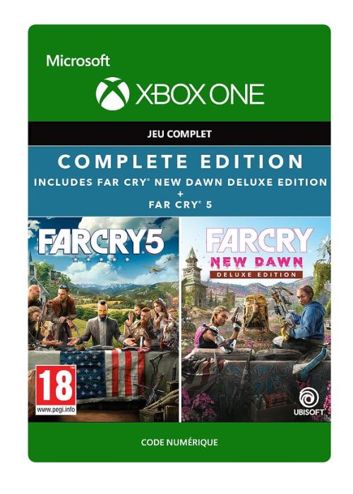 Code de téléchargement Pack Far Cry 5 + Far Cry New Dawn Edition Deluxe Xbox One
