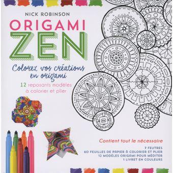 Kit origami zen - Colorez vos créations en origami