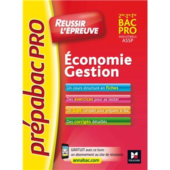PrepabacPRO - Réussir l'épreuve - Economie-Gestion - Entrainement et révision