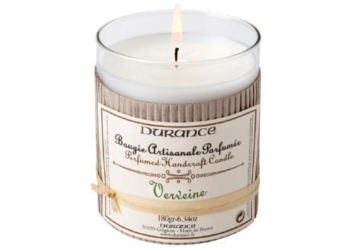 Bougie artisanale parfumée Durance 180gr Verveine