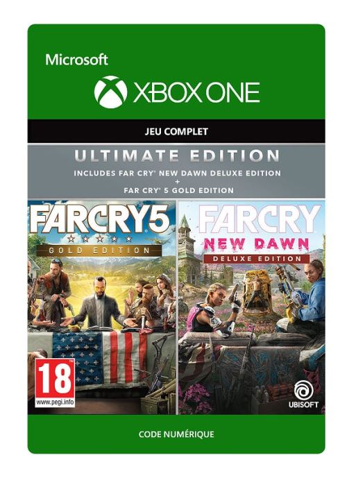 Code de téléchargement Pack Far Cry 5 Edition Gold + Far Cry New Dawn Edition Deluxe Xbox One