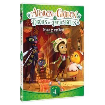 Drôles de petites bêtesApollon le Grillon et les Drôles de Petites Bêtes Volume 4 : Drôles de manières DVD