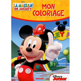 La maison de mickey la maison de mickey mon coloriage collectif broch achat livre fnac - Coloriage maison de mickey ...