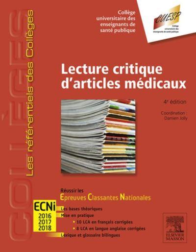 Lecture critique d'articles médicaux - Réussir les ECNi - 9782294747168 - 15,99 €