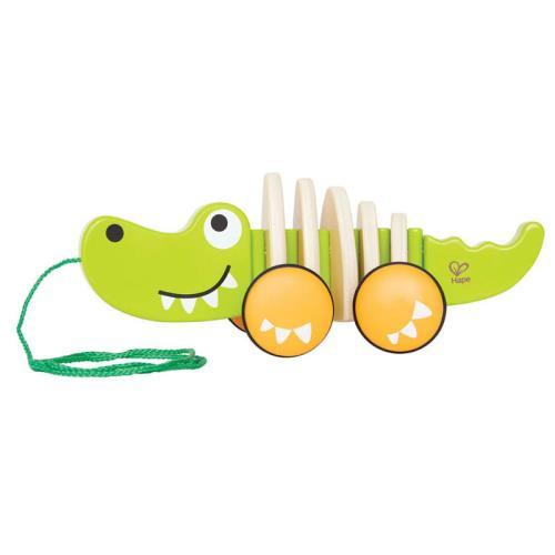 Petit crocodile à tirer Hape