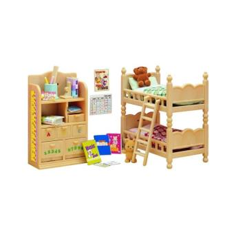 mobilier chambre enfants sylvanian families univers miniature achat prix fnac. Black Bedroom Furniture Sets. Home Design Ideas