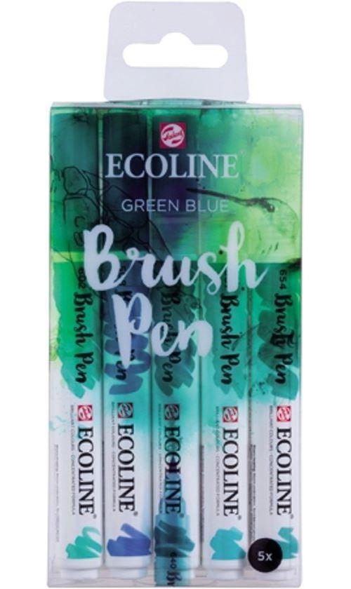 TALENS ECOLINE BRUSHPEN X5 GREEN BLUE