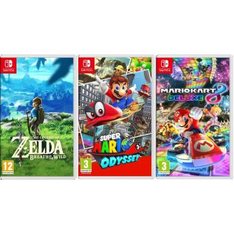 pack 3 jeux nintendo switch the legend of zelda breath. Black Bedroom Furniture Sets. Home Design Ideas