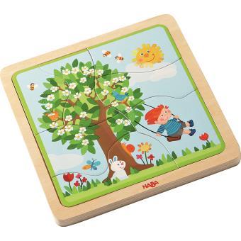 Puzzle en bois Ma saison préférée Haba