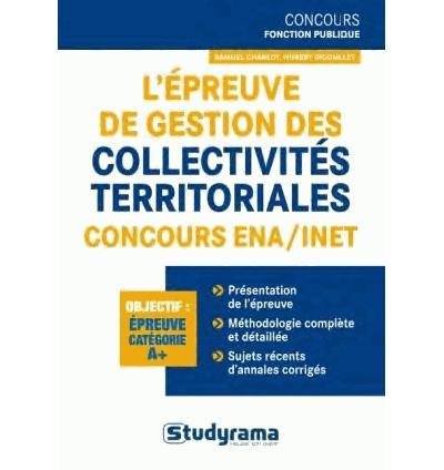 L'épreuve de gestion des collectivités territoriales, concours ENA-INET