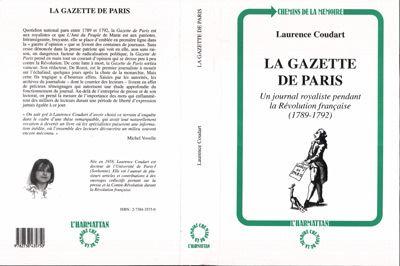 Gazette de paris un journal royaliste pendant la revolution