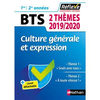 Culture Generale Et Expression Bts Deux Themes 2019 2020 Guide Reflexe N 98 2019