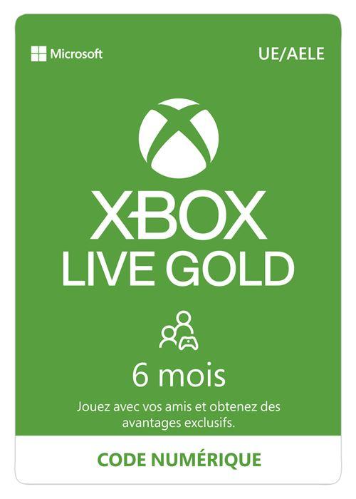 Code de téléchargement Xbox Live Gold : 6 mois d' abonnement