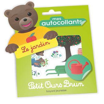 Petit Ours BrunMes autocollants Petit Ours Brun - Le jardin