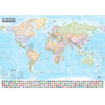 carte monde politique physique echelle 1 21500000 broch collectif achat livre fnac. Black Bedroom Furniture Sets. Home Design Ideas